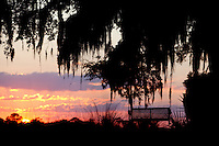 LITTLE ST. SIMONS ISLAND, FL -- October 1, 2010 -- The sun sets on Little St. Simons Island on Friday, October 1, 2010.   The 10,000 acres of marshland, beaches, and forests are a refuge for wildlife and vacationers alike with only 32 guests permitted a night.  (Chip Litherland for Bay Magazine)