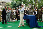 "The Chap Olympiad Bedford Square London UK. The ceremony of lighting the Olympiad Pipe at the start of the ""Chap Olympiad"". Gustav Temple editor of The Chap Magazine."