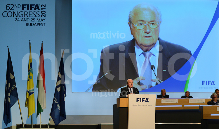Fussball International  62. FIFA  Kongress in Budapest 2012    25.05.2012 FIFA Praesident Joseph S. Blatter (Schweiz)