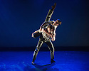London, UK. 21.05.2014. English National Ballet present CHOREOGRAPHICS, a programme of new works from members of the company. This piece is RIPPLE EFFECT, choreographed by Makoto Nakamura. Dancers are: Juan Rodriguez, Guilherme Menezes, Joshua McSherry-Gray, Ksenia Ovsyanick. Photograph © Jane Hobson.