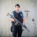 Svelen Araujo, 27<br /> Rapid Response Team<br /> Pacifying Police Unit<br /> Complexo do Caju, Rio de Janeiro, Brazil