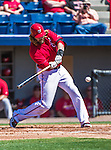 9 March 2014: Washington Nationals outfielder Jayson Werth at bat during a Spring Training game against the St. Louis Cardinals at Space Coast Stadium in Viera, Florida. The Nationals defeated the Cardinals 11-1 in Grapefruit League play. Mandatory Credit: Ed Wolfstein Photo *** RAW (NEF) Image File Available ***