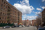Bronx neighborhood where Ford Foundation is funding new low-income housing, New York, NY
