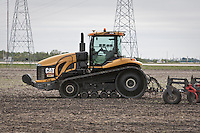 A Caterpillar Challenger MT865 (CAT MT865) tractor is pictured on a field near Winnipeg Monday May 23, 2011.