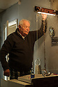 London, UK. 02.06.2015. Dudley Sutton rehearses HAVE YOUR CIRCUMSTANCES CHANGED? in the former FADS shop, Archway. Photograph © Jane Hobson.