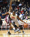 Mississippi's Ladarius White (10) dribbles around Arkansas Little Rock's Ben Dillard (24) at the C.M. &quot;Tad&quot; Smith Coliseum in Oxford, Miss. on Friday, November 16, 2012. (AP Photo/Oxford Eagle, Bruce Newman)