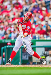 22 September 2013: Washington Nationals outfielder Bryce Harper in action against the Miami Marlins at Nationals Park in Washington, DC. The Marlins defeated the Nationals 4-2 in the first game of their day/night double-header. Mandatory Credit: Ed Wolfstein Photo *** RAW (NEF) Image File Available ***