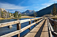 A Foot Bridge over the Green River in the Wind River Mountains