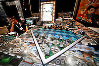 The board game Commander in Chief is promoted during the 109th Annual American International Toy Fair in New York, United States. 13/02/2012.  Photo by Eduardo Munoz Alvarez / VIEWpress.