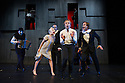 London, UK. 18.09.2012. THE TIGER LILLIES PERFORM HAMLET has its UK premiere at the Queen Elizabeth Hall, Southbank Centre. Picture shows: Martyn Jacques (left) and Morten Burian (Hamlet) surrounded by the cast. Photo credit: Jane Hobson.