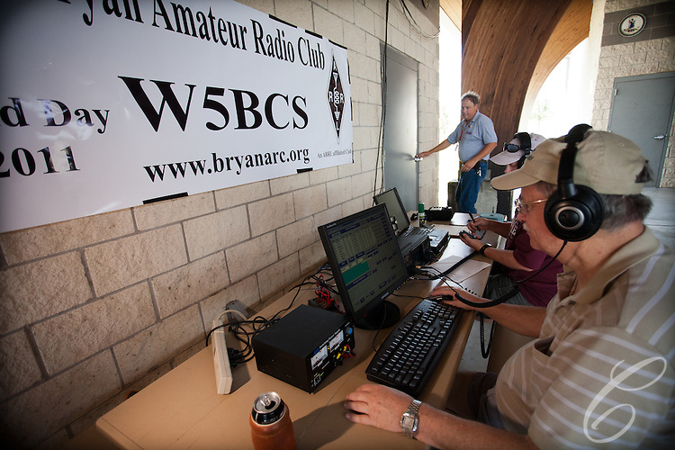 Amateur radio club W5BCS takes part in the 2011 ARRL Field Day exercise from Veteran's Park in College Station. The club hosted a Merit badge training session for local Boy Scouts and offered an opportunity to become a licensed ham radio operator.