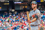 7 August 2016: San Francisco Giants first baseman Brandon Belt in action against the Washington Nationals at Nationals Park in Washington, DC. The Nationals shut out the Giants 1-0 to take the rubber match of their 3-game series. Mandatory Credit: Ed Wolfstein Photo *** RAW (NEF) Image File Available ***