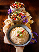 Greek meze Party buffet food with humous