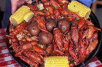 Crawfish platter, Mulattes Restaurant, Cajun Food, New Orleans, Louisiana, USA