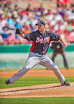 11 March 2013: Atlanta Braves pitcher Paul Maholm on the mound during a Spring Training game against the Washington Nationals at Space Coast Stadium in Viera, Florida. The Braves defeated the Nationals 7-2 in Grapefruit League play. Mandatory Credit: Ed Wolfstein Photo *** RAW (NEF) Image File Available ***