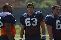 Virginia guard Austin Pasztor during open spring practice for the Virginia Cavaliers football team August 7, 2009 at the University of Virginia in Charlottesville, VA. Photo/Andrew Shurtleff