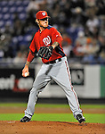 5 March 2012: Washington Nationals pitcher Ryan Perry in action during a Spring Training game against the New York Mets at Digital Domain Park in Port St. Lucie, Florida. The Nationals defeated the Mets 3-1 in Grapefruit League play. Mandatory Credit: Ed Wolfstein Photo
