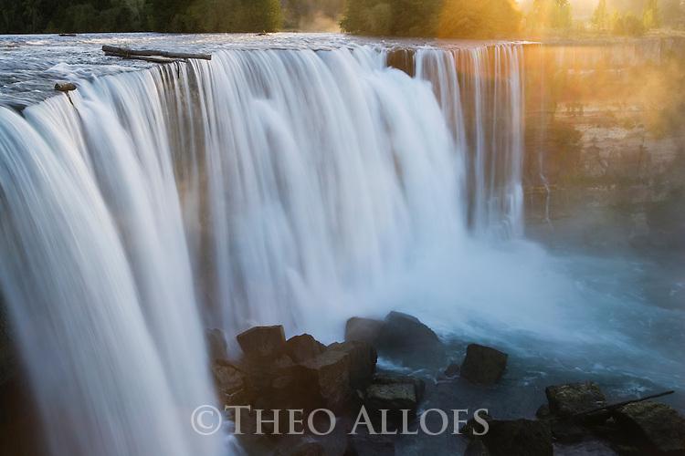 El Laja Falls at sunrise; Central Valley, Chile