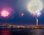 San Francisco Bay Bridge Fireworks