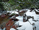 Waterfall on Avalanche creek in Glacier National Park