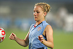 06 August 2008: Amy Rodriguez (USA).  The women's Olympic team of Norway defeated the United States women's Olympic soccer team 2-0 at Qinhuangdao Olympic Center Stadium in Qinhuangdao, China in a Group G round-robin match in the Women's Olympic Football competition.