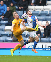 Preston North End's Tom Clarke and Blackburn Rovers' Craig Conway<br /> <br /> Photographer Stephen White/CameraSport<br /> <br /> The EFL Sky Bet Championship - Blackburn Rovers v Preston North End - Saturday 18th March 2017 - Ewood Park - Blackburn<br /> <br /> World Copyright &copy; 2017 CameraSport. All rights reserved. 43 Linden Ave. Countesthorpe. Leicester. England. LE8 5PG - Tel: +44 (0) 116 277 4147 - admin@camerasport.com - www.camerasport.com