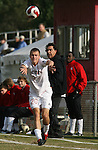 10 November 2007: NC State's Orry Powers takes a throw-in. The Duke University Blue Devils defeated the North Carolina State University Wolfpack 2-0 at Method Road Soccer Stadium in Raleigh, North Carolina in an Atlantic Coast Conference NCAA Division I Men's Soccer game.