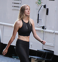 NEW YORK, NY-July 26: Gigi Hadid  stand-in with different fashion for shooting ReeBoks Commerical in New York. NY July 26, 2016. Credit:RW/MediaPunch