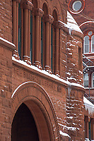 The Billings Library. UVM Winter Campus