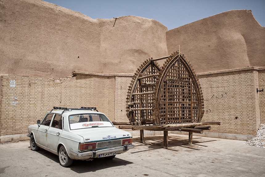 A nakhl used for the day of Ashura at the corner of old city of Yazd.