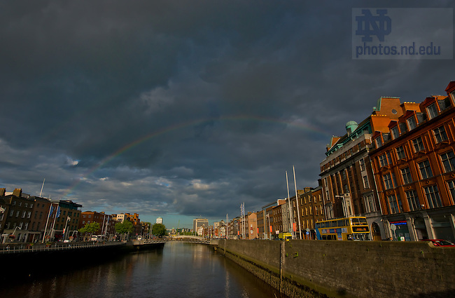Aug. 30, 2012; River Liffey, Dublin, Ireland..Photo by Matt Cashore/University of Notre Dame