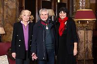 EXCLUSIF : NO WEB, NO BLOG : Martine Lelouch, Claude Lelouch, Val&eacute;rie Perrin.<br /> Claude Lelouch honor&eacute; pour ses 50 ans de carri&egrave;re, lors de la seconde &eacute;dition du Festival International du Film de Bruxelles, apr&egrave;s avoir re&ccedil;u plus t&ocirc;t dans la journ&eacute;e, l'hommage de la ville par Yvan Mayeur mais aussi la plus haute distinction  distinguant les artistes en devenant Commandeur de l'Ordre Leopold au cours d' une c&eacute;r&eacute;monie officielle au Palais d'Egmont. <br /> Belgique, Bruxelles, 23 novembre 2016.<br /> EXCLUSIVE : NO WEB, NO BLOG :<br /> French director &amp; producer Claude Lelouch is honored for his 50-year career, at the &quot; 2th Edition of the Brussels Film Festival &quot;.<br /> Earlier in the day, Claude Lelouch was awarded ' Commander of the Order '.<br /> Belgium, Brussels, 23 November 2016