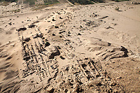The Temple of Amun as seen from the holy mountain of Jebel Barkal, Sudan, on Tuesday, March 27, 2007. First built by the Egyptian king Thutmose III in the 15th century BC it later became the centre of the Kushite kingdom. King Piye and his son Taharqa extended the temple making it the largest Kushite building ever built...The ancient kingdom of Kush emerged around 2000 BC in the land of Nubia, what is today northern Sudan. At their height the Nubians ruled over ancient Egypt as the 25th Dynasty between 720 BC and 664 BC (known as the Black Pharaohs) and saw their borders reach to edges of Libya and Palestine. The Kushite kings saw themselves as guardians of Egyptian religion and tradition. They centered there kindgom on the Temple of Amun at Napata (modern day Jebel Barkal) and brought back the building of Pyramids in which to inter their kings - there are around 220 pyramids in Sudan, twice the number in Egypt. After Napata was sacked, by a resurgent Egypt, the capital was moved to Meroe where a more indigenous culture developed, Egyptian hieroglyphics made way for a cursive Meroitic script, yet to be deciphered. The Meroitic kingdom eventually fell into decline in the 3rd century AD with the arrival of Christianity.