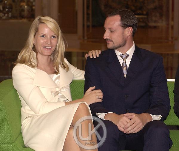 Crown Prince Haakon & Crown Princess Mette-Marit of Norway's visit to Thailand..Visit a Norwegian design exhibition at the Conrad Hotel, Bangkok..