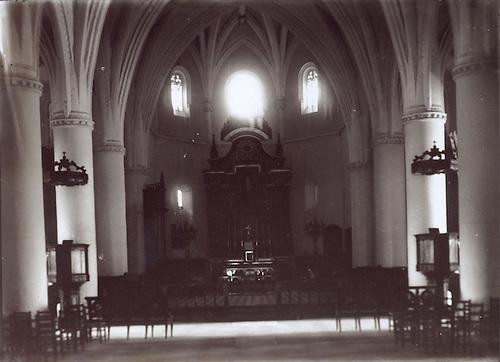 Altar Mayor de la Catedral Primada. Foto Luis Mañón. circa 1941.