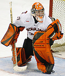 2/6/04 Omaha, NE Bowling Green University goalie Jordan Sigalet..<br /> <br /> (Chris Machian/Prairie Pixel Group)