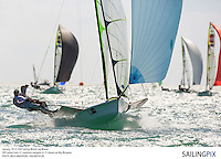 Miami, USA, 20130130: ISAF SAILING WORLD CUP MIAMI - 121 boats and 311 sailors from 37 countries compete at the ISAF Sailing World Cup in Miami. Race Day 3. ..Photo: Mick Anderson/SAILINGPIX.DK