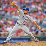15 June 2016: Chicago Cubs pitcher Travis Wood on the mound during a game against the Washington Nationals at Nationals Park in Washington, DC. The Cubs fell to the Nationals 5-4 in 12 innings, giving up the rubber match of their 3-game series. Mandatory Credit: Ed Wolfstein Photo *** RAW (NEF) Image File Available ***
