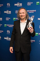 Xavier Seron ( Magritte du meilleur sc&eacute;nario ) : 7&egrave;me C&eacute;r&eacute;monie des Magritte du Cin&eacute;ma, qui r&eacute;compense le septi&egrave;me art belge, au Square, &agrave; Bruxelles.<br /> 7th edition of the Magritte du Cinema awards ceremony.<br /> Belgium, Brussels, 4 February 2017