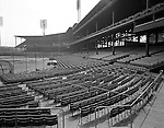 Pittsburgh PA:  View of Forbes Field from behind home plate- the Oakland section of Pittsburgh 1960.  Assignment for the Kaufmann and Faby Company for a view of the seats installed at Forbes Field by Chicago's American Seating Company