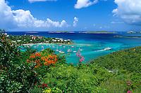 Cruz Bay Harbor<br /> prior to the building of Grande Bay Resort<br /> St. John<br /> U.S. Virgin Islands