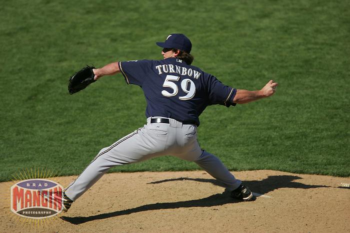 Derrick Turnbow. Baseball: Milwaukee Brewers vs San Francisco Giants. April 24, 2005 at AT&T Park in San Francisco.