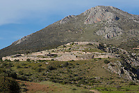 Mycenae, Pelopennese, Greece, a hill top citadel which was the most important place in Greece from c. 1600 to c. 1100 BC. It was first completely excavated 1874-78 by Heinrich Schliemann, 1822-90