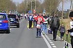 Team helpers prepare for their riders arrival at the first feed zone at Steenkerke during Gent-Wevelgem in Flanders Fields 2017 running 249km from Denieze to Wevelgem, Flanders, Belgium. 26th March 2017.<br /> Picture: Eoin Clarke | Cyclefile<br /> <br /> <br /> All photos usage must carry mandatory copyright credit (&copy; Cyclefile | Eoin Clarke)