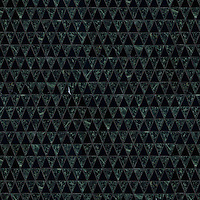 Diamont, a hand-cut stone mosaic, shown in polished Nero Marquina and Spring Green.