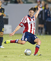 CARSON, CA - July 21, 2012: Chivas USA midfielder Ben Zemanski  (21) during the LA Galaxy vs Chivas USA match at the Home Depot Center in Carson, California. Final score LA Galaxy 3, Chivas USA 1.