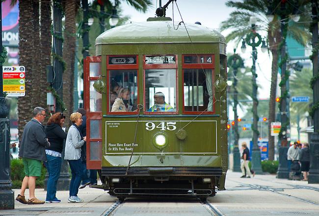 Louisiana, New Orleans, Canal Street, Street Car