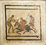 A mosaic from Pompeii in The Naples National Archaeological Museum (Museo Archeologico Nazionale di Napoli) is located in Naples, Italy, at the northwest corner of the original Greek wall of the city of Neapolis. The museum contains a large collection of Roman artifacts from Pompeii, Stabiae and Herculaneum. The collection includes works of the highest quality produced in Greek, Roman and Renaissance times.