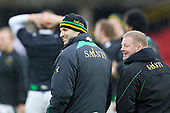 Northampton Saints Director of Rugby Jim Mallinder enjoys a smile pre fixture - Saracens RFC vs Northampton Saints RFC - Aviva Premiership Rugby at Vicarage Road Stadium, Watford FC - 04/03/12 - MANDATORY CREDIT: Ray Lawrence/TGSPHOTO - Self billing applies where appropriate - 0845 094 6026 - contact@tgsphoto.co.uk - NO UNPAID USE.