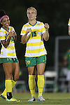 04 September 2015: Oregon's Kristen Parr. The North Carolina State University Wolfpack hosted the Oregon University Ducks at Dail Soccer Field in Raleigh, NC in a 2015 NCAA Division I Women's Soccer game. NC State won the game 2-0.